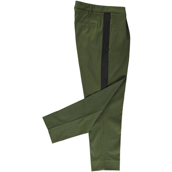 Oostende pants ro15 ($175) ❤ liked on Polyvore featuring pants, wide-leg pants, green pants, wide-leg trousers, green trousers and low crotch pants