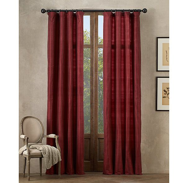 17 best images about drapes on pinterest silk dark for Restoration hardware silk curtains