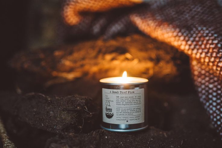 Bearded Candle Makers Real Turf Fire Candle