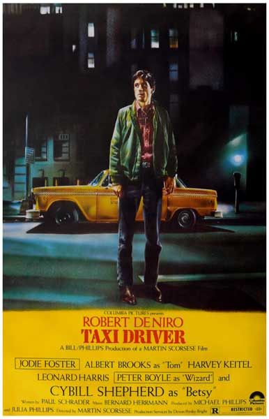 A great movie poster! Robert De Niro is brilliant as Travis Bickle in Martin Scorsese's 1976 film Taxi Driver! Ships fast. 11x17 inches. Need Poster Mounts..?