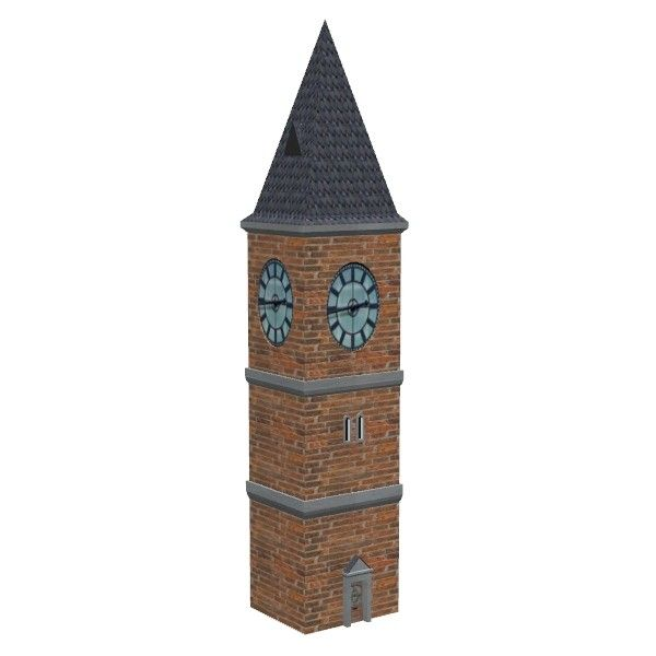 3Ds Victorian Clock Tower - 3D Model