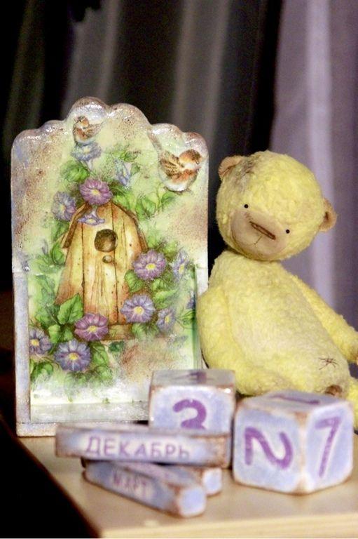 """Вечный календарь """"Летний домик"""" - вечный календарь,Декупаж,лето,домик"""