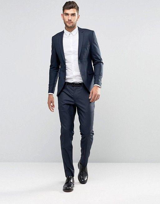 Jack & Jones Premium Navy Skinny Suit