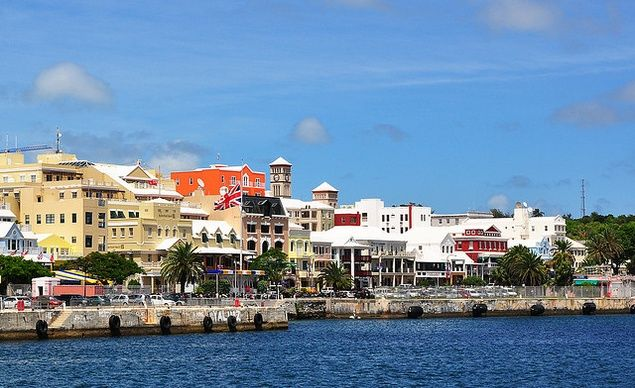 """""""Hamilton, Bermuda! Front Street is full of shops, sidewalk sales, and festivals. It's all within walking distance of some really nice beach areas, and there's the helmet diving man. Hartley's Underwater Wonderland was amazing.""""--Kristen Mankosa (From: 15 Unforgettable Cruise Ports--According to You) Love inspiring travel photos like this one? Sign up for our newsletter and get vacation inspiration straight to your inbox: http://www.budgettravel.com/newsletter-signup/?src=pinterest"""
