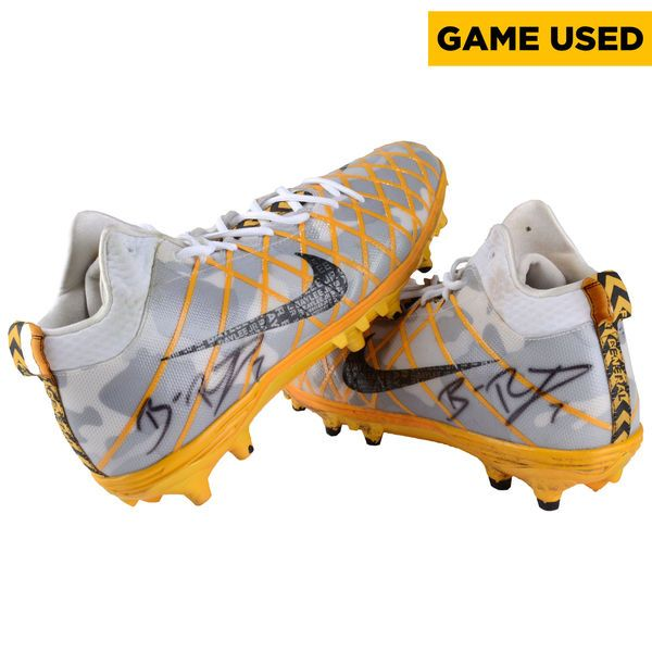 Ben Roethlisberger Pittsburgh Steelers Fanatics Authentic Autographed Game-Used Gray and Yellow Cleats vs. Cleveland Browns on November 20, 2016 - $3499.99