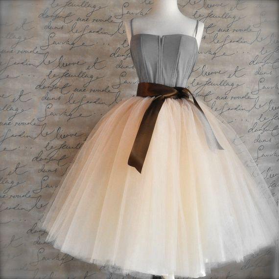 7 Katmanlar Midi Tül Etekler Bayan Moda TUTU Etek Zarif Düğün Gelin Gelinlik Etek Düğün Lolita Jüpon Petticoat