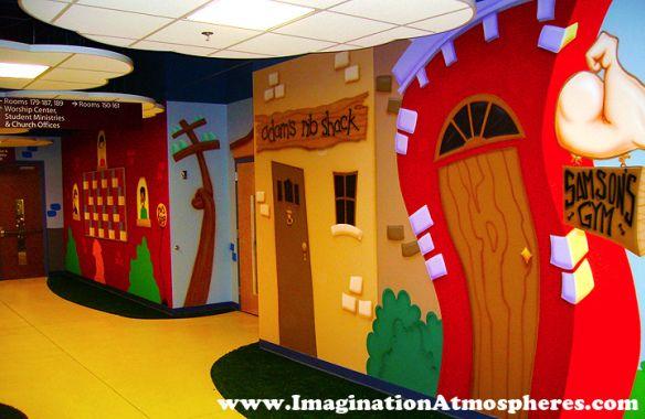 Children 39 s church murals children 39 s church pinterest for Childrens mural ideas