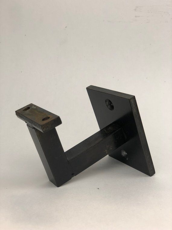 Our Modern Handrail Bracket Is Made From Cold Rolled Steel 5 8 Solid Bar And 1 4 Wall Plate Has A Alle Wall Mounted Handrail Wood Handrail Handrail Brackets