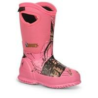 """Girls' Youth Rocky® 9"""" Core 400 gram Thinsulate™ Ultra Insulation Rubber Boots, Mossy Oak® / Pink:… #Hunting #Shooting #Fishing #Camping"""