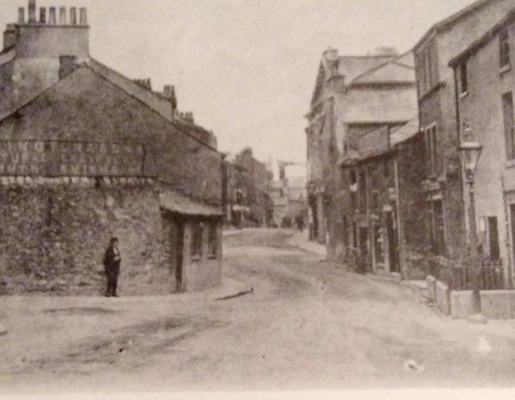 Ulverston in the early 1900s? Looking along Queen Street towards the cross?