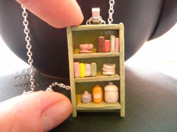 Country Kitchen Bookshelf Necklace by Coryographies on Etsy · Indie Crafts | CraftGossip.com