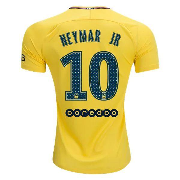 PSG 2017/18 Away Men Soccer Jersey NEYMAR JR #10