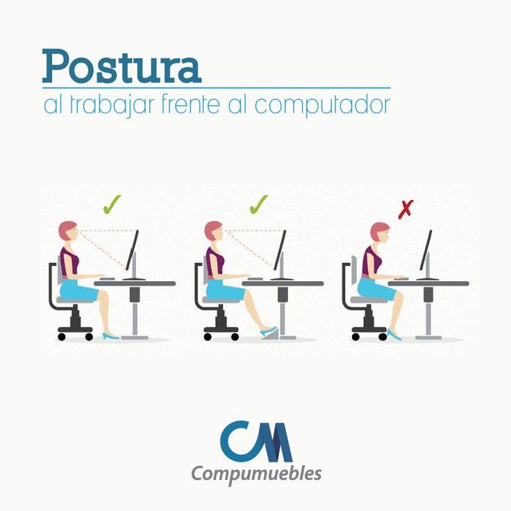 Recuerda que… Aunque te sientes de forma correcta también necesitas hacer pausas activas para relajarte y evitar la fatiga. www.compumuebles.com