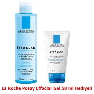 La Roche Posay Effaclar Tonik 200 ml Sıkıştırıcı ve Soyucu Tonik (Hediyeli)