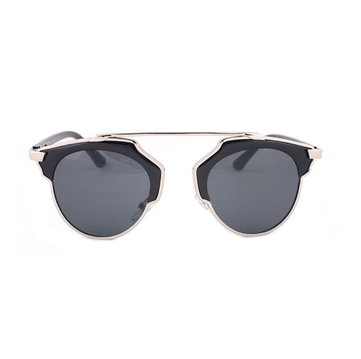 AYF Women Men Aviator Sunglasses Black Frame Silver Lens Vintage Retro Glasses #AYF #Aviator