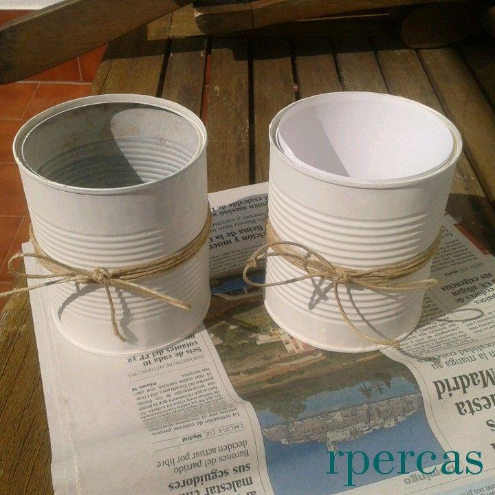 Decoraci n de boda hand made latas pintadas y decoradas for Decoracion bautizo en casa
