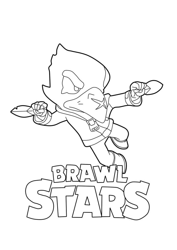 Crow Coloring Star Coloring Pages Coloring Pages Pokemon Coloring Pages