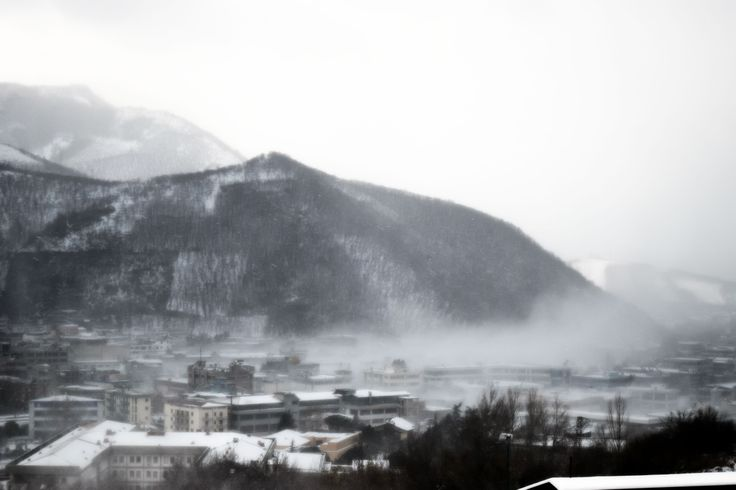Solofra, vento e neve. Fotografia