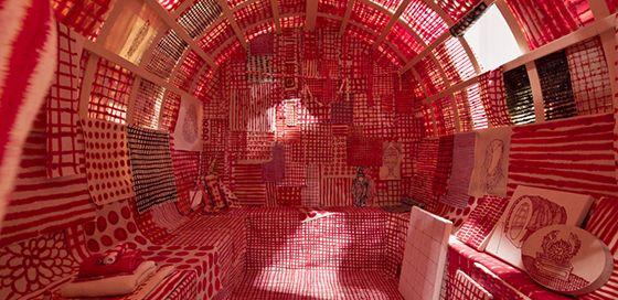 Marie-Claude Bouthillier, La bonne aventure 2011, installation, La Centrale Galerie Powerhouse, Montréal, collection du Musée national des beaux-arts du Québec