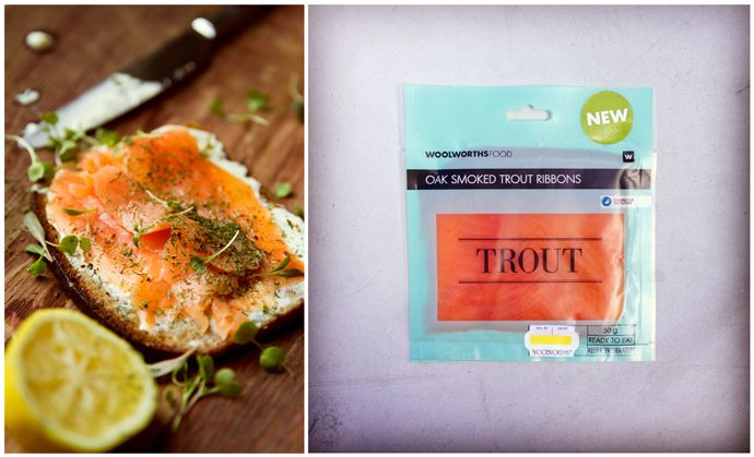 Oak Smoked Trout with Sour Cream and Dill on Health Loaf