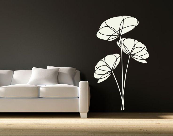 1000 ideen zu blumen wandtattoos auf pinterest. Black Bedroom Furniture Sets. Home Design Ideas