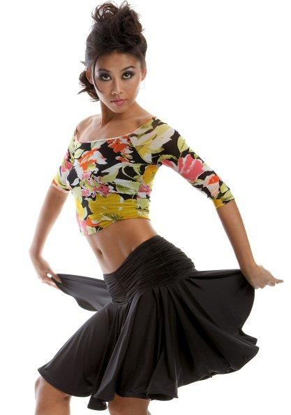 Как должна выглядеть юбка для занятий бальными танцами фото