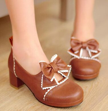 Cheap shoes sandals women, Buy Quality shoes earth directly from China sandals green Suppliers:Sen female line bowtie cute girl with thick heel sweet girl doll shoes Lolita round toe platform sandals plus size 34-43