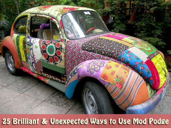 25 Brilliant & Unexpected Ways to Use Mod Podge: Punch Buggy, Old Schools, Sports Cars, First Cars, Vw Beetles, Vw Bugs, Mod Podge, Future Cars, Dreams Cars