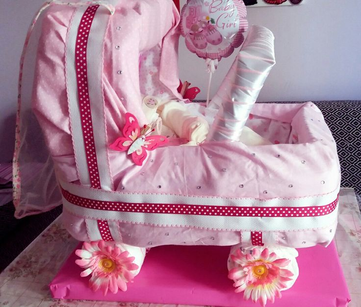 Diy Diaper carriage for girl