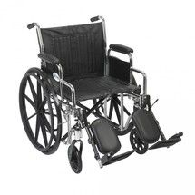 #wheelchair #Denver - Chrome Sport Wheelchair with Detachable Desk Arms and Elevating Leg Rest - cs20dda-elr