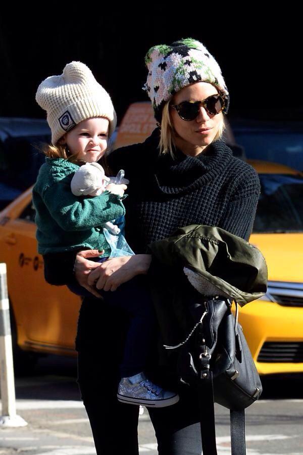 Sienna Miller and daughter Marlowe Sturridge in NYC