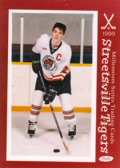 Sean's 1999 Streetsville Tigers Hockey Card (front)