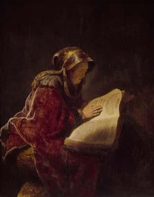 Anna The Prophetess of Arimathea by Rembrandt - 51st Paternal Great Grandmother