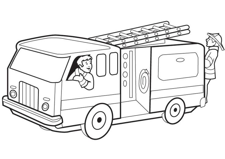 Firetruck Coloring Pages To Print