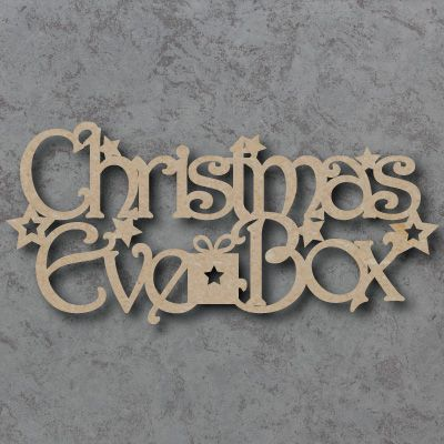 Christmas Eve Box 01, made from 4mm thick mdf wood For that extra special decoration at Christmas Time Smooth finish ready to paint and decorate Measurements approx: 20cm w x 9cm h 30cm w x 14cm h As all of our Signs, Blanks and Embellishments are laser cut they may have a slight brown edge mark which is easily painted or decorated over.