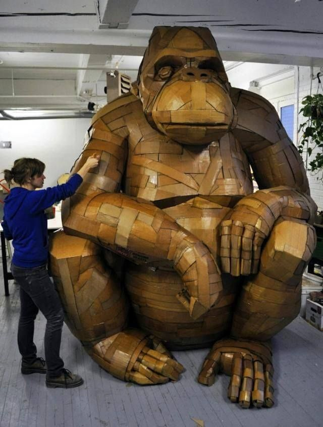 Best Cardboard Art Images On Pinterest Cardboard Sculpture - Artist uses drywall to create extraordinary sculptures