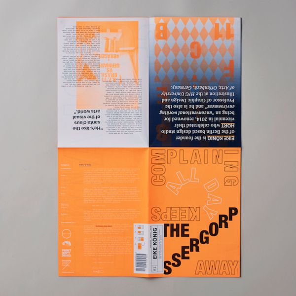 People of Print (In Perpetuum) presents their latest monthly publishing project titled 'Posterzine', a mini-magazine which folds out into agorgeous A1 format p