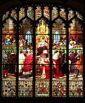 Institution of the Court of Session by James V in 1532, from the Great Window in Parliament House, Edinburgh
