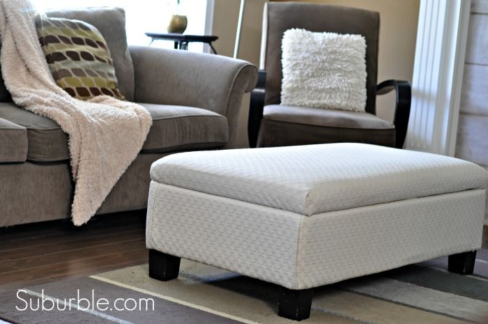 No Sew Ottoman Reupholstering Furniture Ottomans And