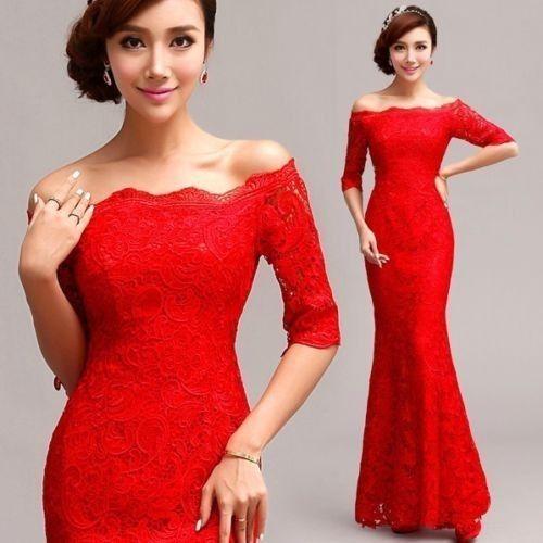 2014 Nuevo formal Boda Prom fiesta Dama Noche Bola Vestido red/lf097 in Ropa, calzado y accesorios, Ropa para mujer, Vestidos   eBay