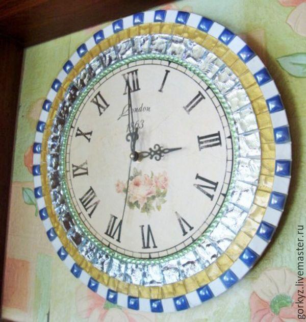 """Купить СКИДКА!!! Настенные часы """"Время в Париже"""" - разноцветный, часы для дома, часы для кухни"""