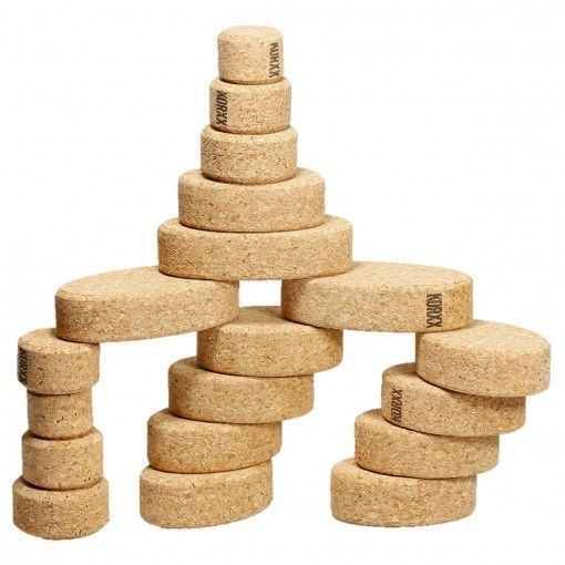 Cork building blocks Kuller XS by KORXX