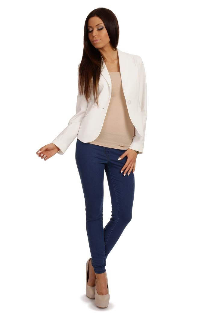 Women's zippered jacket in shades of ecru