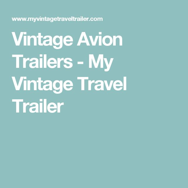Avion Travelcade Club Former Member Travel Fifth Wheel ...