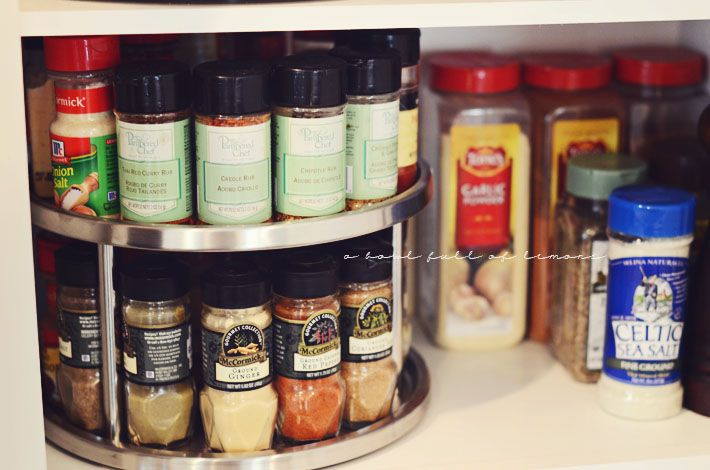 A bowl full of lemons.: Home organization 101: The Kitchen... HOW TO ORGANIZE THE SPICE CABINET.