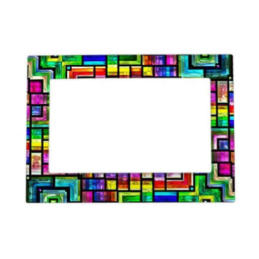 colorful mosaics Magnetic Frame