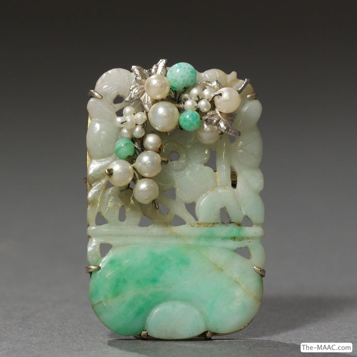638 best antique jade jewelry images on pinterest jade jewelry 14 kt gold jade and pearl brooch antique jadejade jewelrypearl aloadofball Gallery