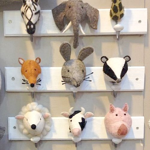 These are so gorgeous! The kids will love them and they will encourage them to hang up their coats! Choose from the jungle, woodland or farmland animal designs.