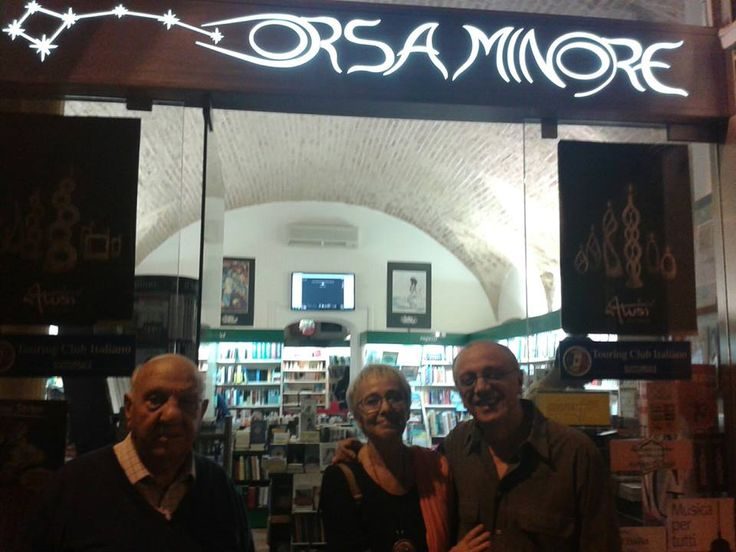 """15 ottobre Libreria Orsa Minore: """"Perché Orsa Minore?"""" """"Perché nell'Orsa Minore c'è la stella polare, e i libri sono la nostra""""."""