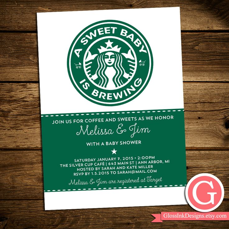 baby shower invitation for twins%0A Baby Shower Invitation  A Sweet Baby is Brewing  Starbucks inspired   Modern  Coffee